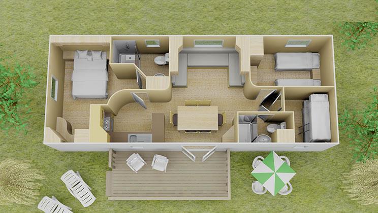 Bathroom floor plan dimensions - Espace 3 Bed 2 Bath Floorplan