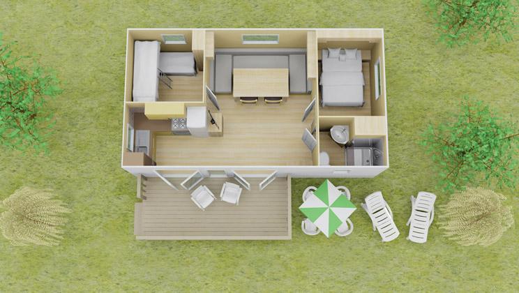 3 Bedroom Caravan Layout